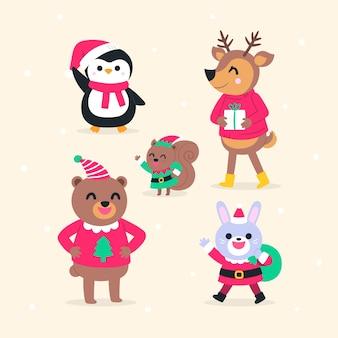 Hand getrokken kerst tekensverzameling