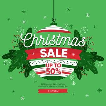 Hand getrokken kerst verkoop