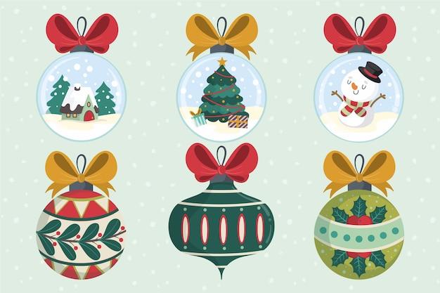 Hand getrokken kerstballen