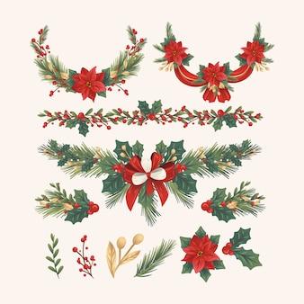 Hand getrokken kerstdecoratie