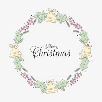 Hand getrokken kerstkrans