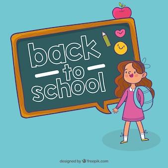 Hand getrokken kinderen klaar om terug te gaan naar school