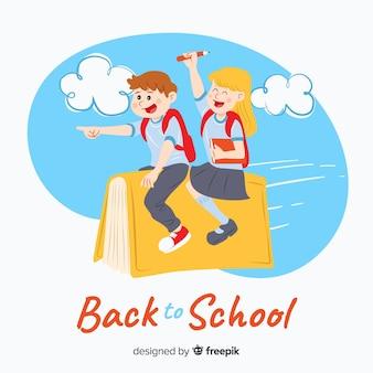 Hand getrokken kinderen terug naar school