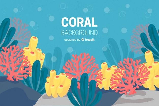 Hand getrokken koraal achtergrond