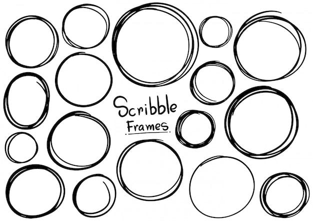 Hand getrokken krabbel frames