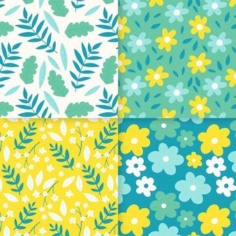 Hand getrokken lente patroon set