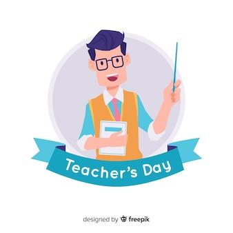 Hand getrokken leraren dag achtergrond Premium Vector