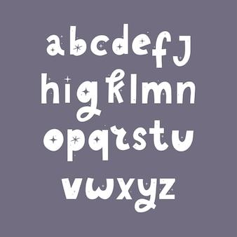 Hand getrokken lettertype abstracte doodle met sterren