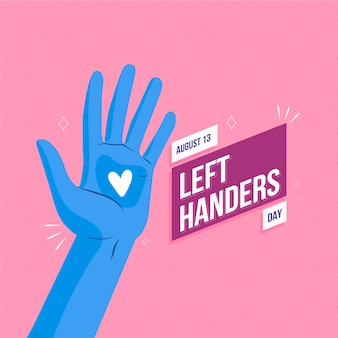 Hand getrokken linkshandigen dag concept