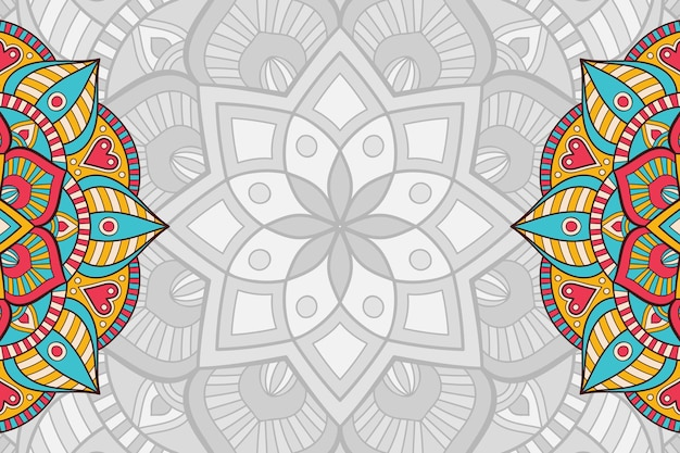 Hand getrokken mandala achtergrond