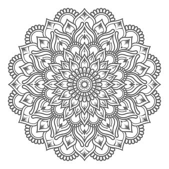 Hand getrokken mandala illustratie