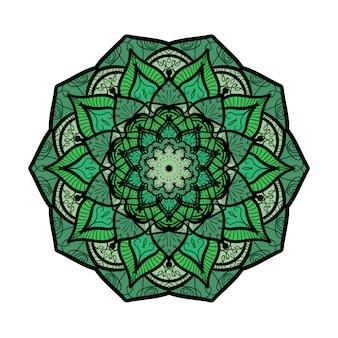 Hand getrokken mandala in arabische, indiase, islam en ottomaanse cultuur decoratie stijl
