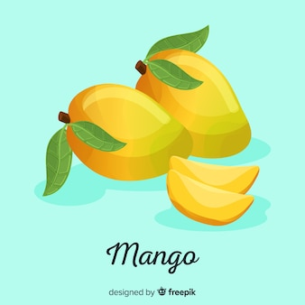 Hand getrokken mango achtergrond