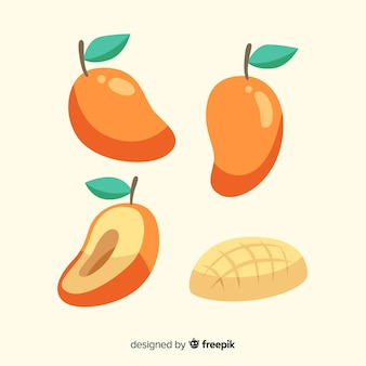Hand getrokken mango collectie