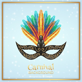 Hand getrokken masker carnaval achtergrond