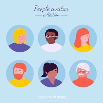 Hand getrokken mensen avatar collectie