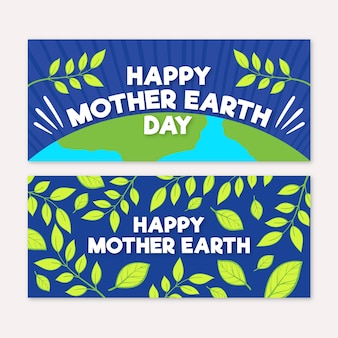 Hand getrokken moeder aarde dag banner
