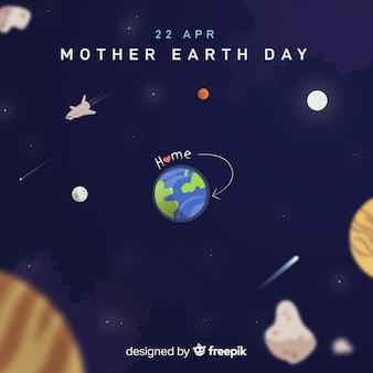 Hand getrokken moeder dag achtergrond