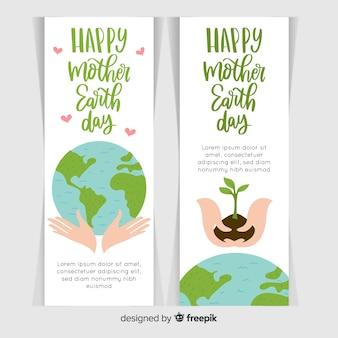 Hand getrokken moeder dag dag banner