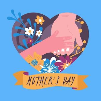 Hand getrokken moederdag concept