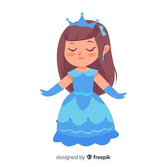 Hand getrokken mooie prinsesillustratie