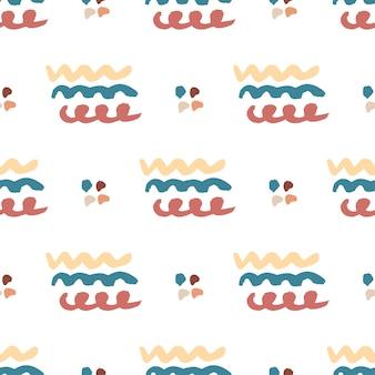 Hand getrokken naadloze abstracte patroon