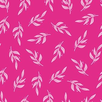 Hand getrokken naadloze patroon van eenvoudige bloemen