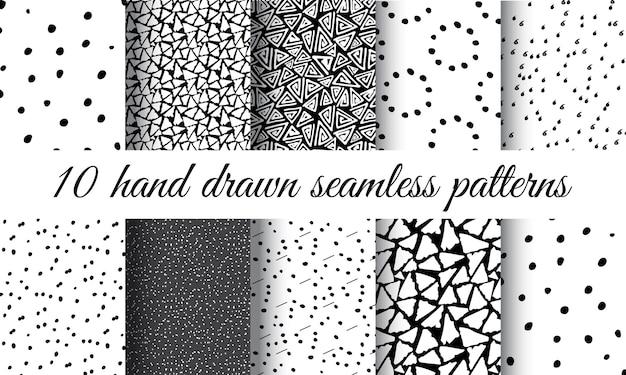 Hand getrokken naadloze patroon