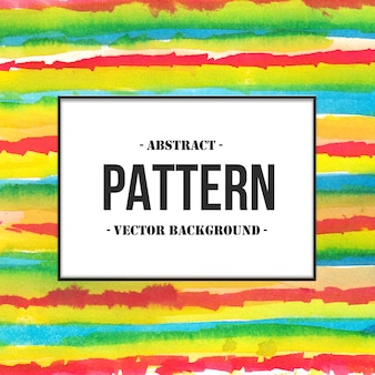 Hand getrokken natte borstel kleurrijke strepen patroon