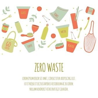 Hand getrokken nul afval achtergrond