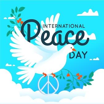 Hand getrokken ontwerp internationale dag van de vrede