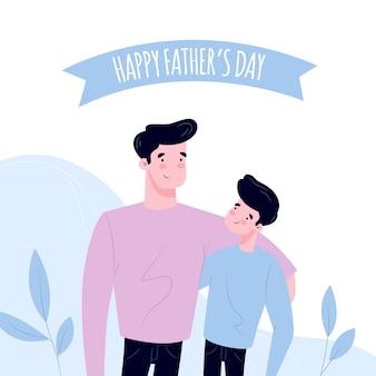 Hand getrokken ontwerp vaderdagevenement