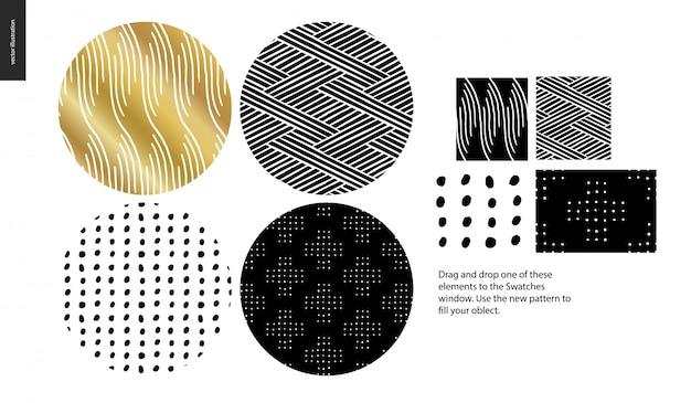 Hand getrokken patronen collectie