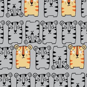 Hand getrokken patroon achtergrond