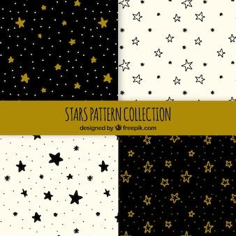 Hand getrokken patroon met sterren