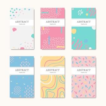 Hand getrokken patroon naam kaarten