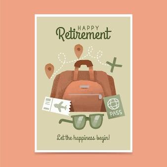 Hand getrokken pensioen wenskaart