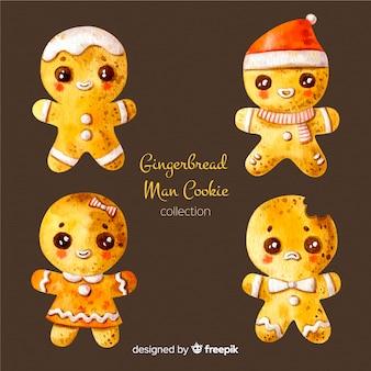 Hand getrokken peperkoek cookies