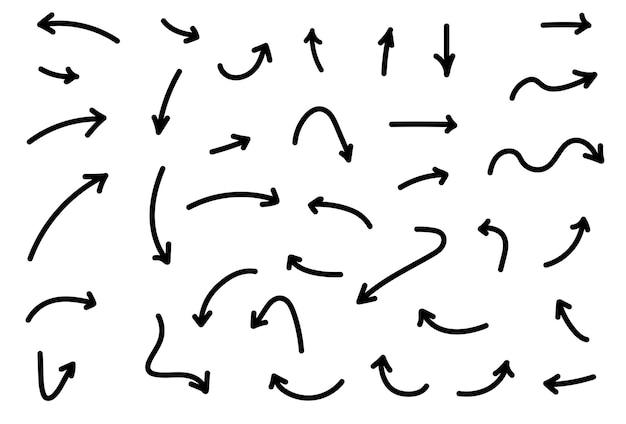 Hand getrokken pijlpictogrammen ontwerp