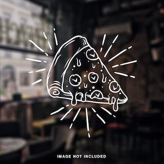 Hand getrokken pizza illustratie