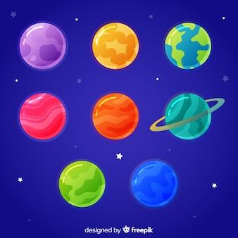 Hand getrokken planeten collectie