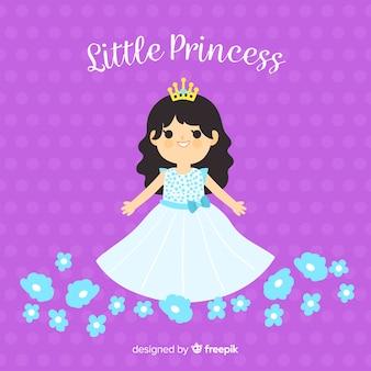 Hand getrokken prinses achtergrond
