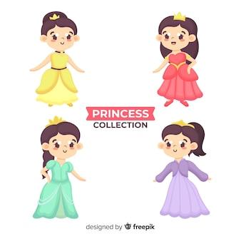 Hand getrokken prinses collectie
