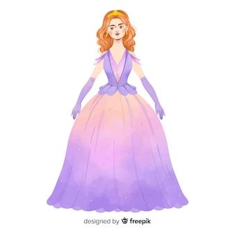 Hand getrokken prinsesillustratie