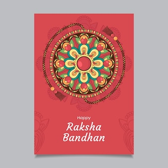 Hand getrokken raksha bandhan wenskaart