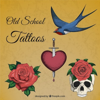 Hand getrokken realistische tattoos
