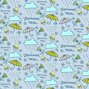 Hand getrokken regen wallpaper