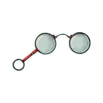 Hand getrokken retro bril