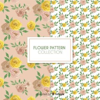Hand getrokken rozen patrooninzameling