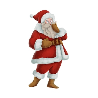 Hand getrokken santa claus-illustratie